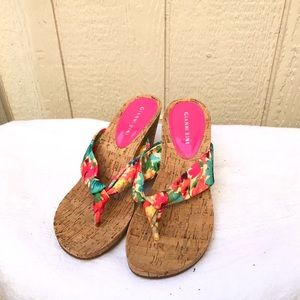 Gianni Bini cork wedge slip ons, size 8 medium